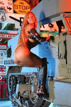Busty Ebony Tyra Lex Boots Fetish - pics 03