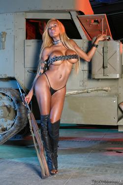 Busty Ebony Tyra Lex Boots Fetish - pics 04