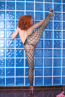 Crazy Redhead Bitch in Fishnet - pics 11