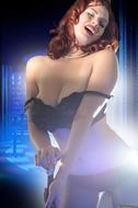 Redhead Pinup Girl with Big Boobs - pics 03
