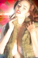 Redhead Pinup Girl with Big Boobs - pics 09
