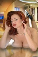 Redhead Pinup Girl with Big Boobs - pics 11