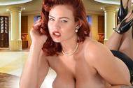 Redhead Pinup Girl with Big Boobs - pics 13