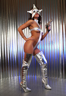 Silver Star Stephy - Shiny Boots - pics 02