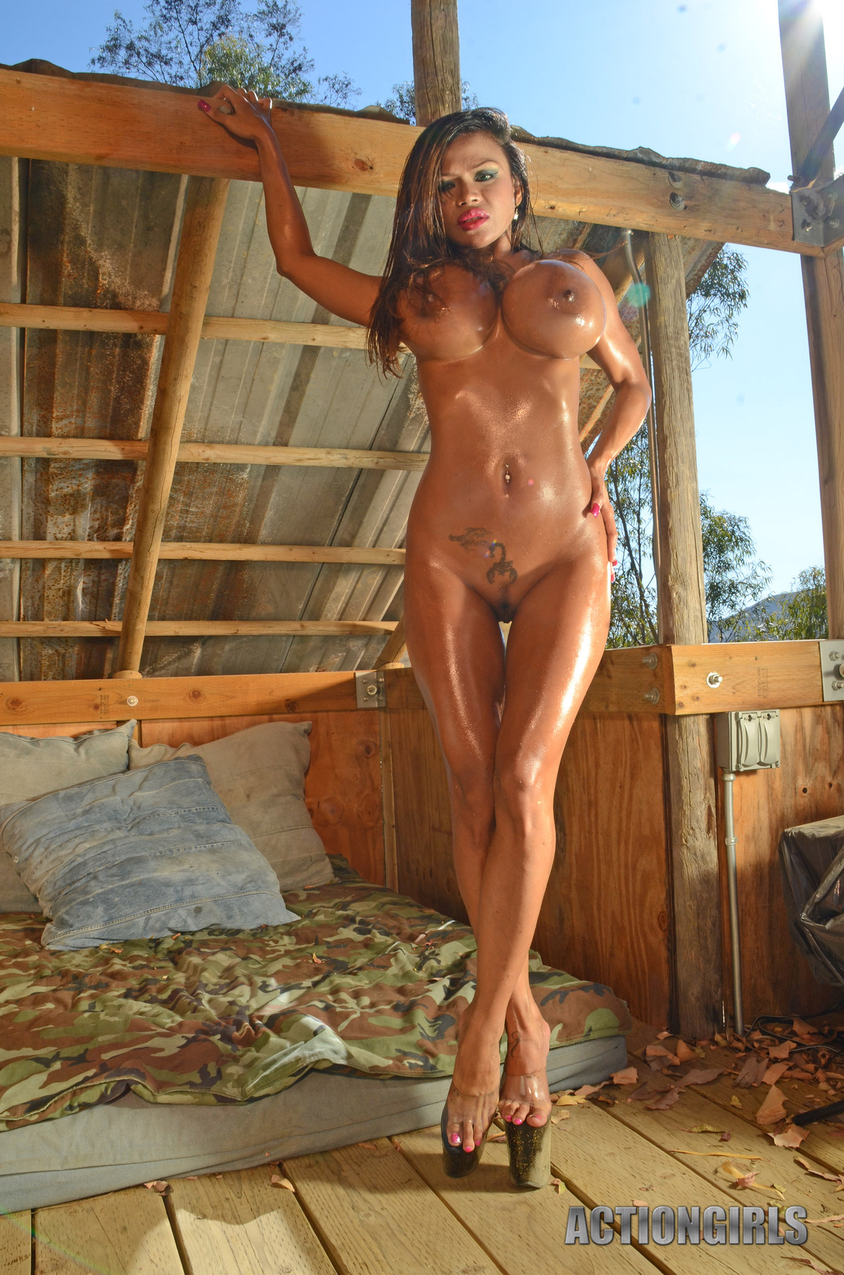 Goddess Armie Field Oiled Juggs - picture 13