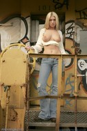 Busty Babe Alison Angel Jeans Pics - pics 13