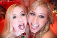 Santas Helper Trio POV Sucking - pics 15