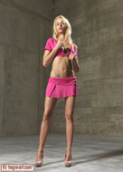 Blonde Erica F Magenta Bikini - pics 00