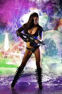 Busty Hana Black Crazy Amazon - pics 00