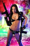 Busty Hana Black Crazy Amazon - pics 01