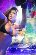 Busty Hana Black Crazy Amazon - pics 13