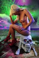 Horny Blond Denise Skull Island - pics 03