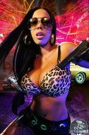 Busty Ebony Action Girl Monique - pics 00