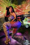 Busty Ebony Action Girl Monique - pics 12