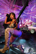 Busty Ebony Action Girl Monique - pics 13