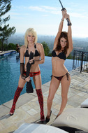 Lesbian Action Babes on the Roof - pics 02