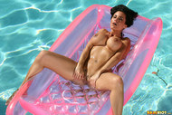 Laura Lee Blue Bikini Pleasure - pics 11