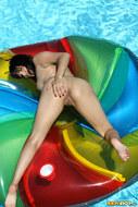 Sunny Leone Sheer Green Bikini - pics 12