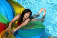 Sunny Leone Sheer Green Bikini - pics 14