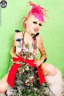 Roxy Contin Tattooed Christmas Babe - pics 03