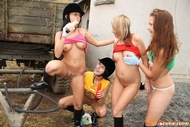 Horny Teenager Riders Lesbian Sex - pics 12