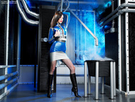 Supermodel Emily Marilyn Latex and Boots - pics 01
