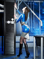 Supermodel Emily Marilyn Latex and Boots - pics 02