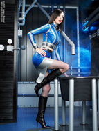 Supermodel Emily Marilyn Latex and Boots - pics 03