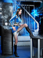 Supermodel Emily Marilyn Latex and Boots - pics 04