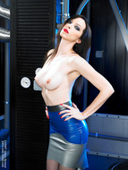 Supermodel Emily Marilyn Latex and Boots - pics 06
