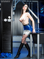 Supermodel Emily Marilyn Latex and Boots - pics 07