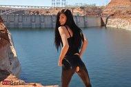 Zoe Rush Skin Tight Black Dress - pics 00