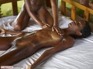 Lynn Massaging Ebony Valerie - pics 02