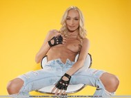 Small Titted Teen Posing in Jeans - pics 16