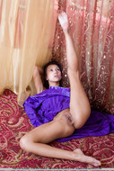 Yummy Exotic Chick in Satin Dress - pics 17