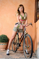 Cycling Slut Showing Pink Pussy - pics 02