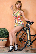 Cycling Slut Showing Pink Pussy - pics 03