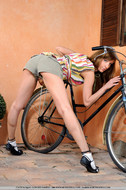 Cycling Slut Showing Pink Pussy - pics 04