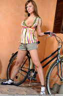 Cycling Slut Showing Pink Pussy - pics 05