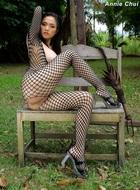 Annie Chui Black Fishnet Body - pics 04