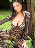 Annie Chui Black Fishnet Body - pics 07