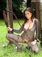 Annie Chui Black Fishnet Body - pics 08