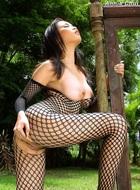 Annie Chui Black Fishnet Body - pics 12