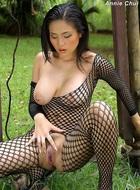 Annie Chui Black Fishnet Body - pics 13