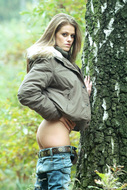Fucking Hot Brunette in the Forest - pics 02