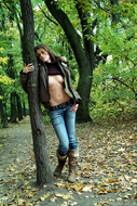Fucking Hot Brunette in the Forest - pics 14