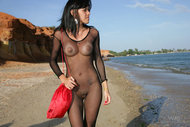 Latina Girl in Sexy Fishnet - pics 01