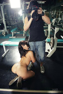 Tess Getting Horny in the Gym - pics 13