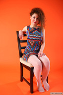 Daisy in Zigzag dress and fishnet - pics 00