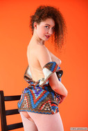 Daisy in Zigzag dress and fishnet - pics 06